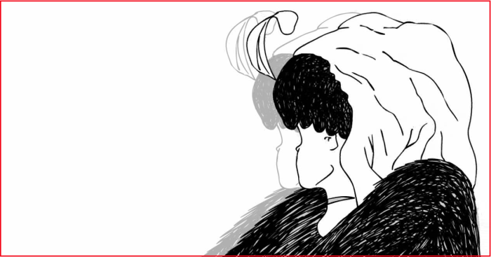 Ambiguous Illusion Depicting Either an Old Woman or a Young Woman