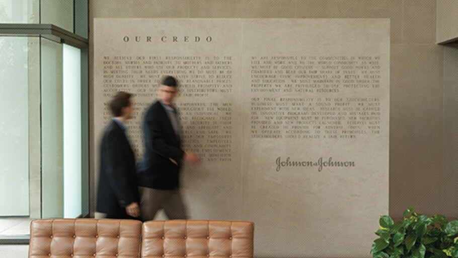 johnson and johnson credo The values that guide our behaviour are spelled out in our credo put simply, our credo challenges us to put the needs and well-being of the people we serve first.