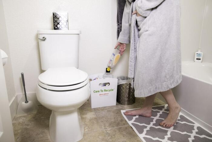 15 simple ways to green your routine and help save the for Green bathroom bin